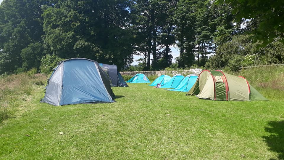 East Shotton Tents on the field